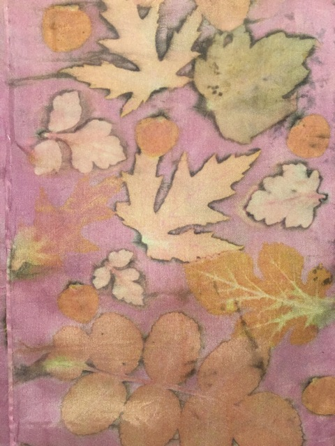 Eco print on silk.