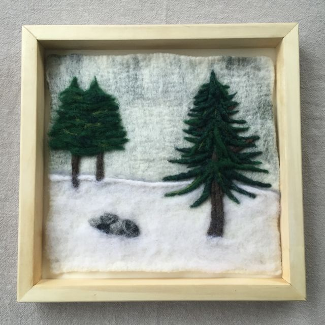 Winter Trees Felted Landscape