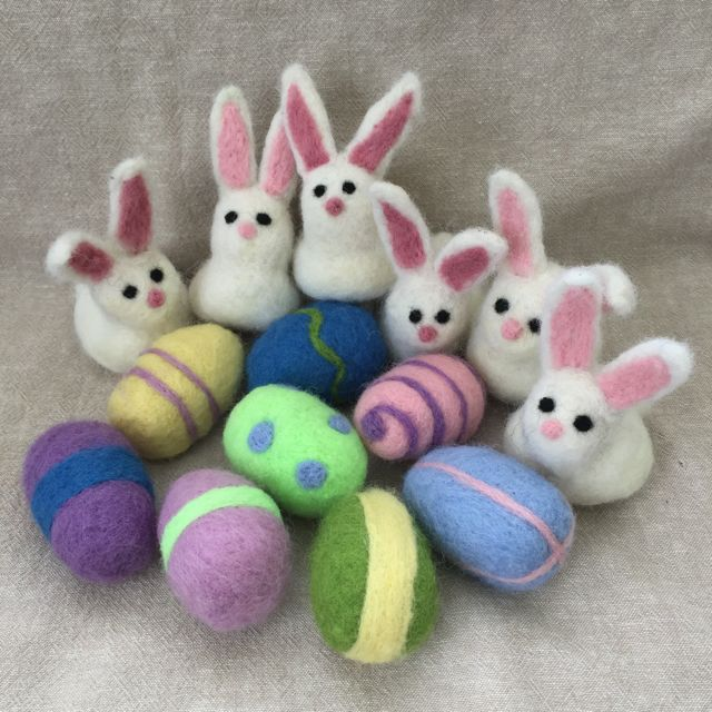 Bunnies and eggs.