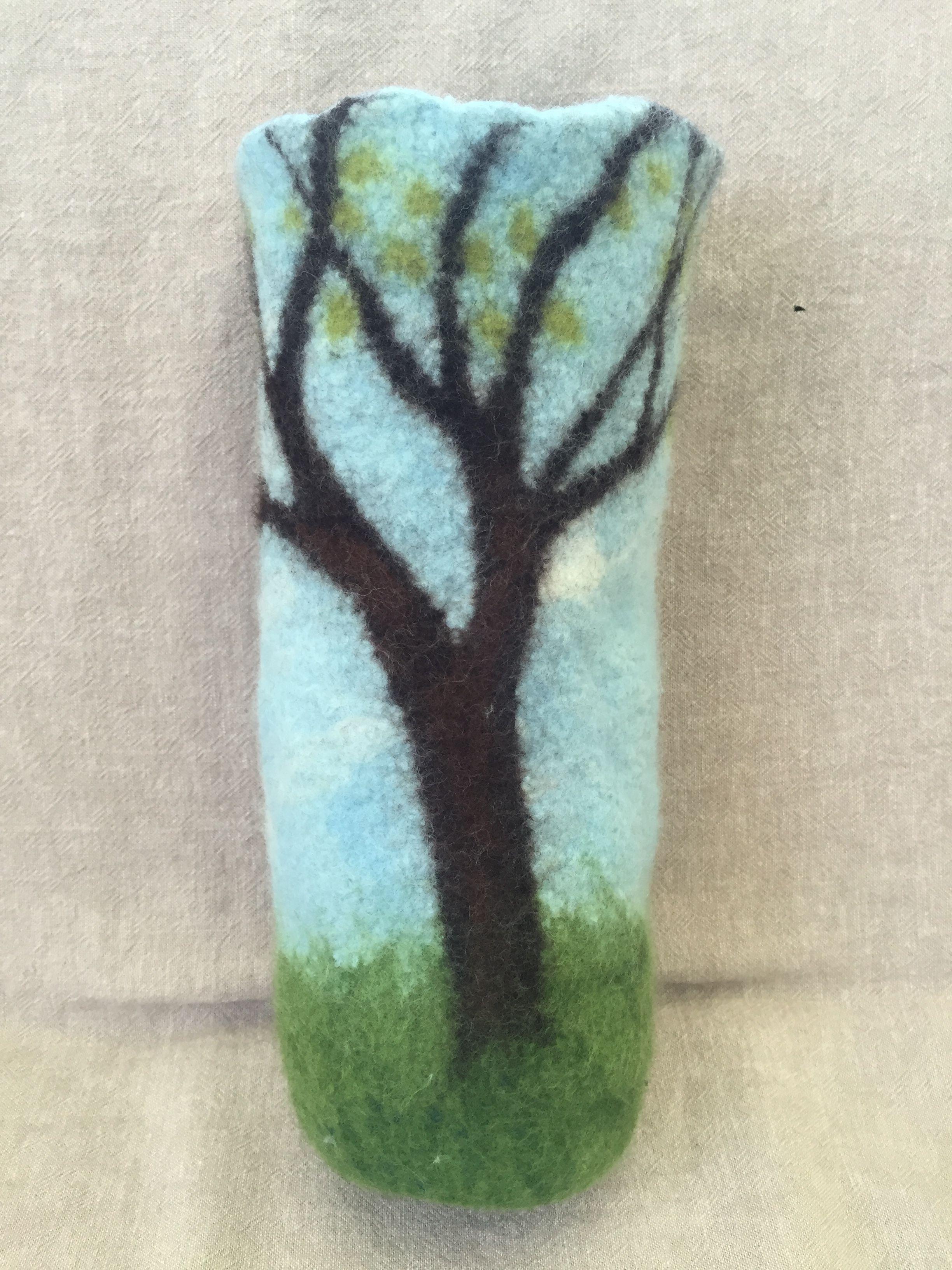 Spring tree vessel. 11 x 5 in.