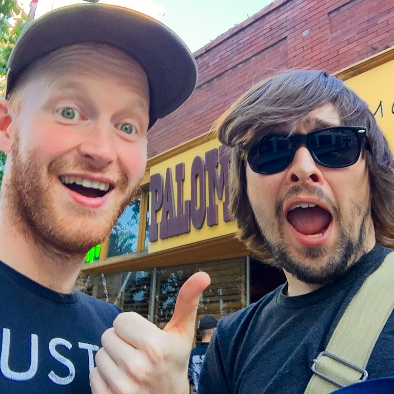 Mike ran into an old pal, Ryan Kitchen, the drummer from Slow Down, Molasses.