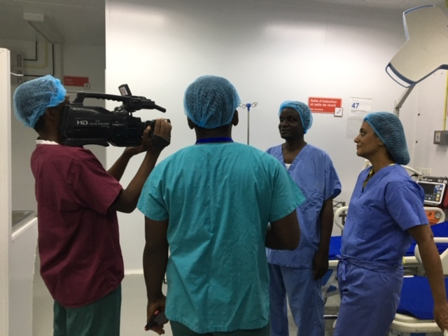 Dr. Batsch and Dr. Sleemi with Radio Television Caraibes