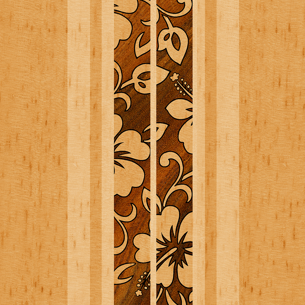 Pupukea Hawaiian Faux Koa Wood Surfboard