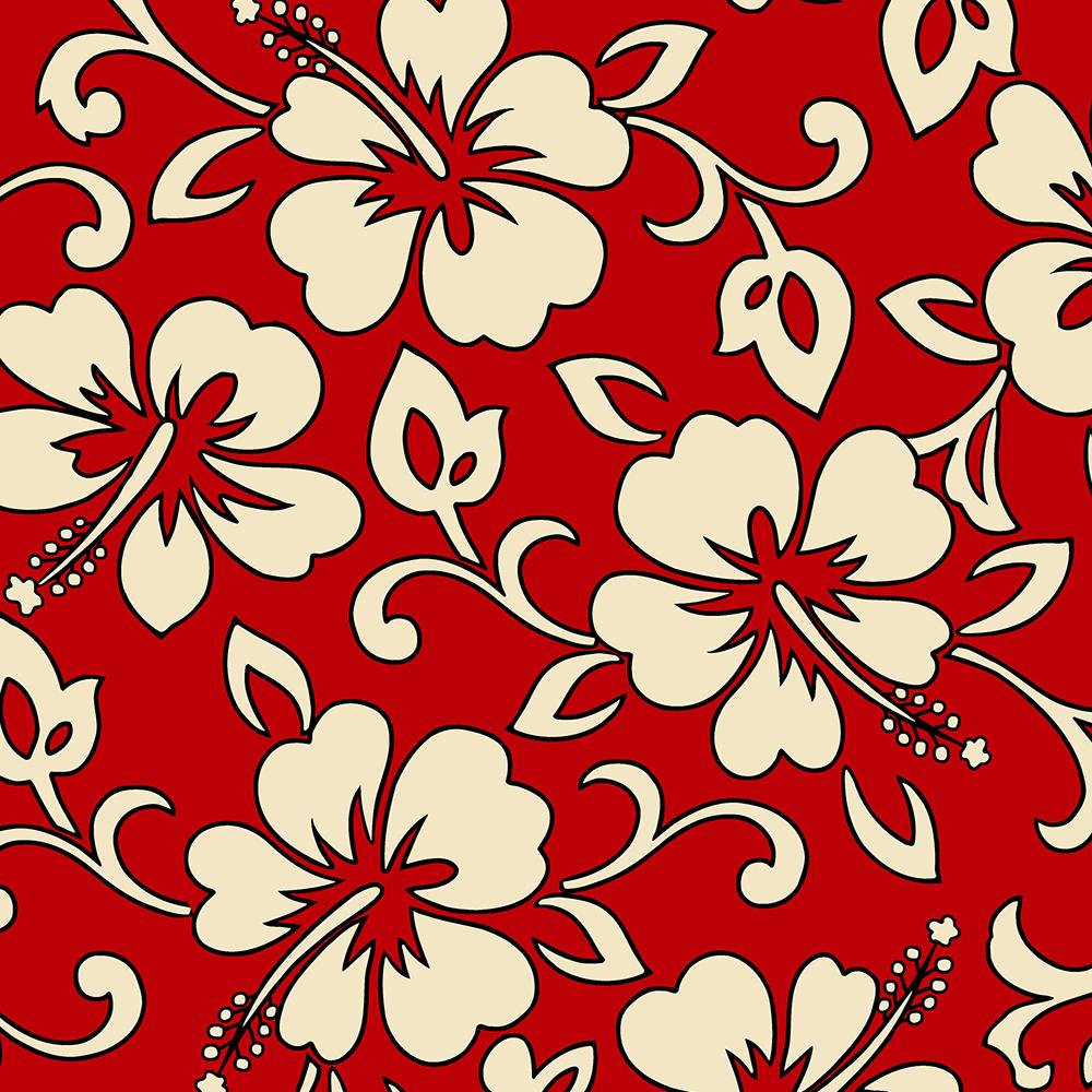 Malia Hawaiian Hibiscus Aloha Shirt Print - Red