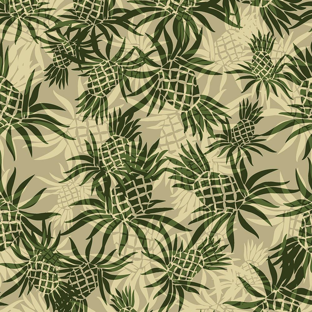 Pineapple Camo Hawaiian Aloha Shirt Print- Khaki and Olive