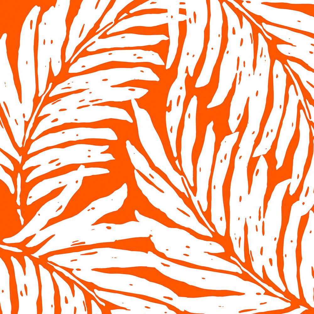 Kahanu Garden Hawaiian Palm Leaves - Tangerine