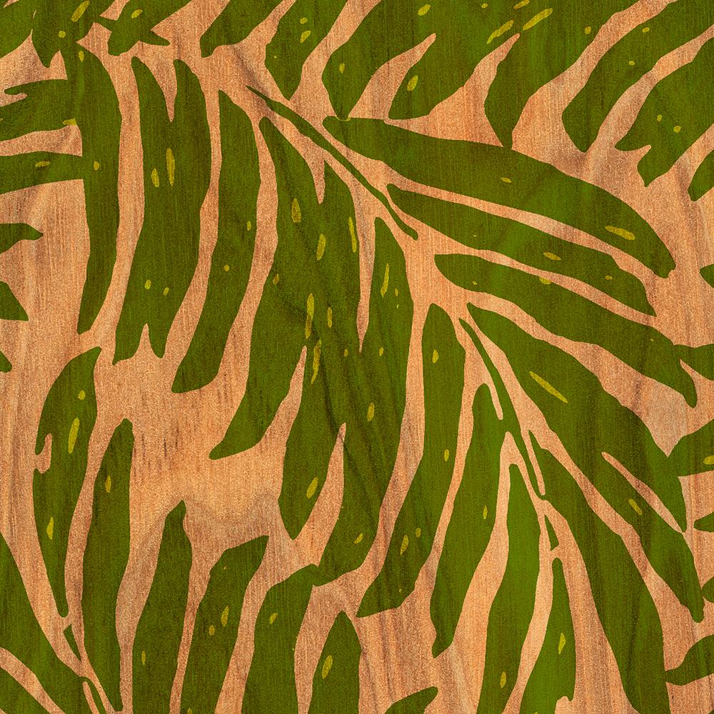 Kahanu Hawaiian Palm Faux Wood Phone Case in Green