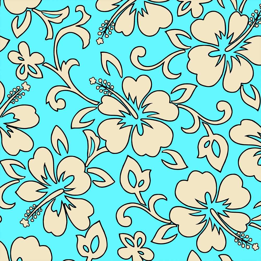 Copy of Malia Hawaiian Hibiscus Pareau Print Phone Case in Aqua