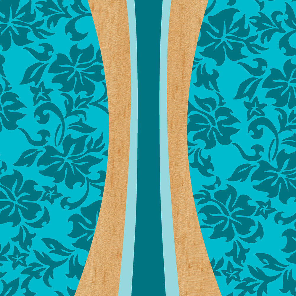 Laniakea Hawaiian Surfboard Faux Wood Case