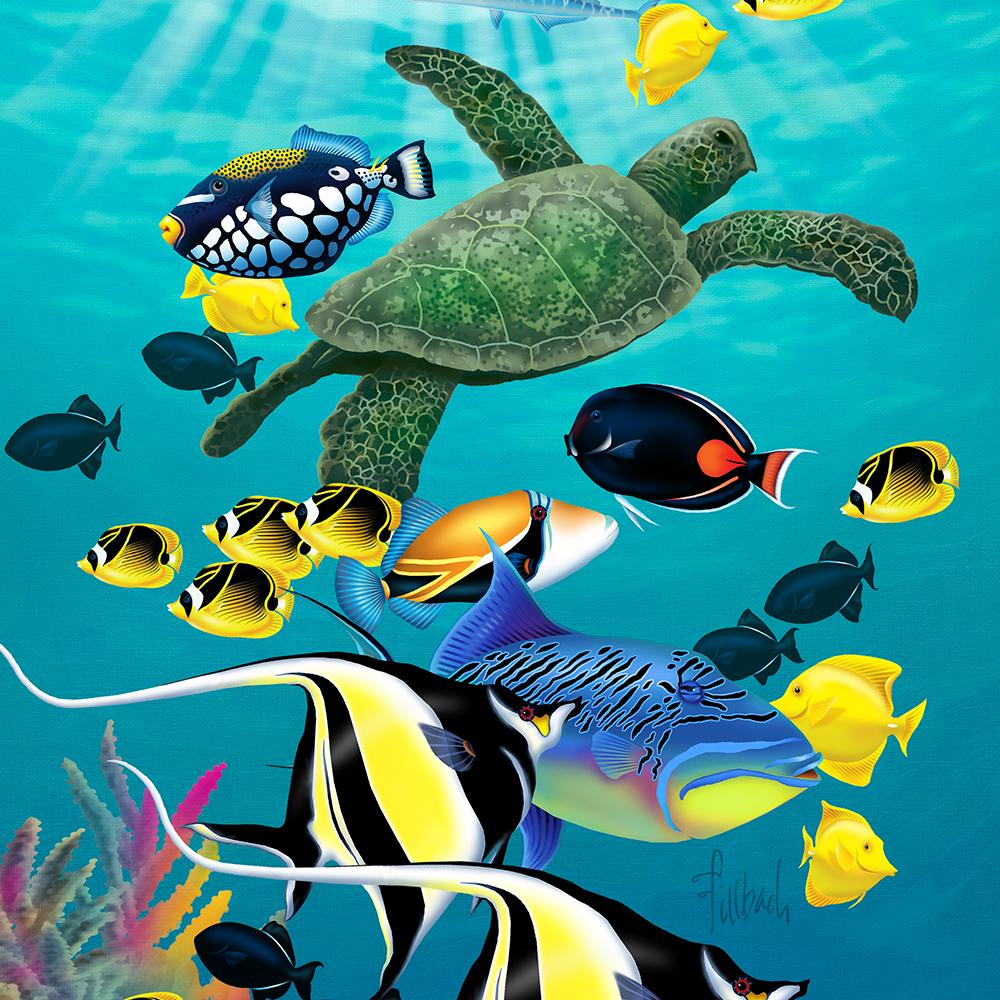 Molokini Cove Hawaiian Tropical Fish Illustrated Phone Case