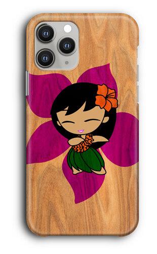 Fluff Aloha Hawaiian Hula Dance Girl and Monkey Metal ID Mirror Case