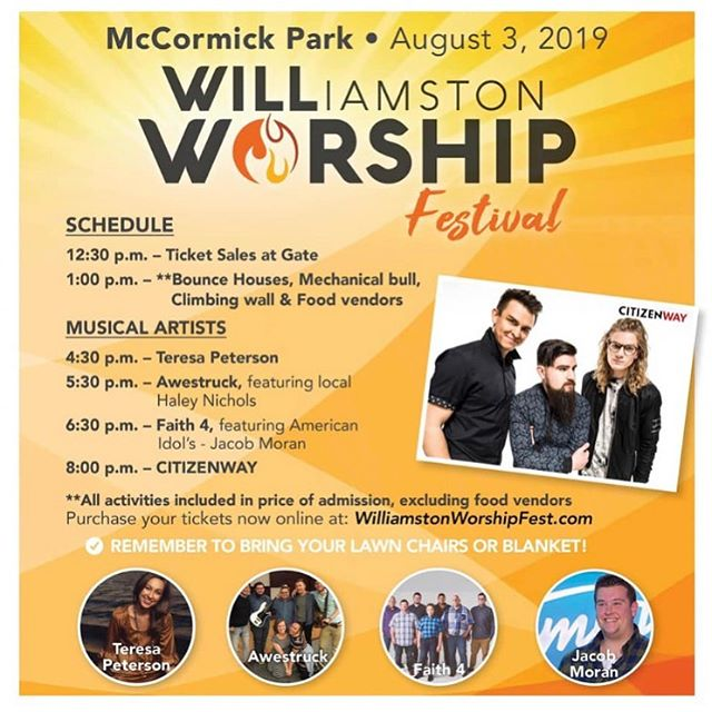 ||S A T U R D A Y|| Who's excited to praise the Lord this Sat with @citizenway? 🙋🏻♀️🙌🏻🔥😊 We take the stage at 4:30 and are pumped for this family-friendly event! See you there!