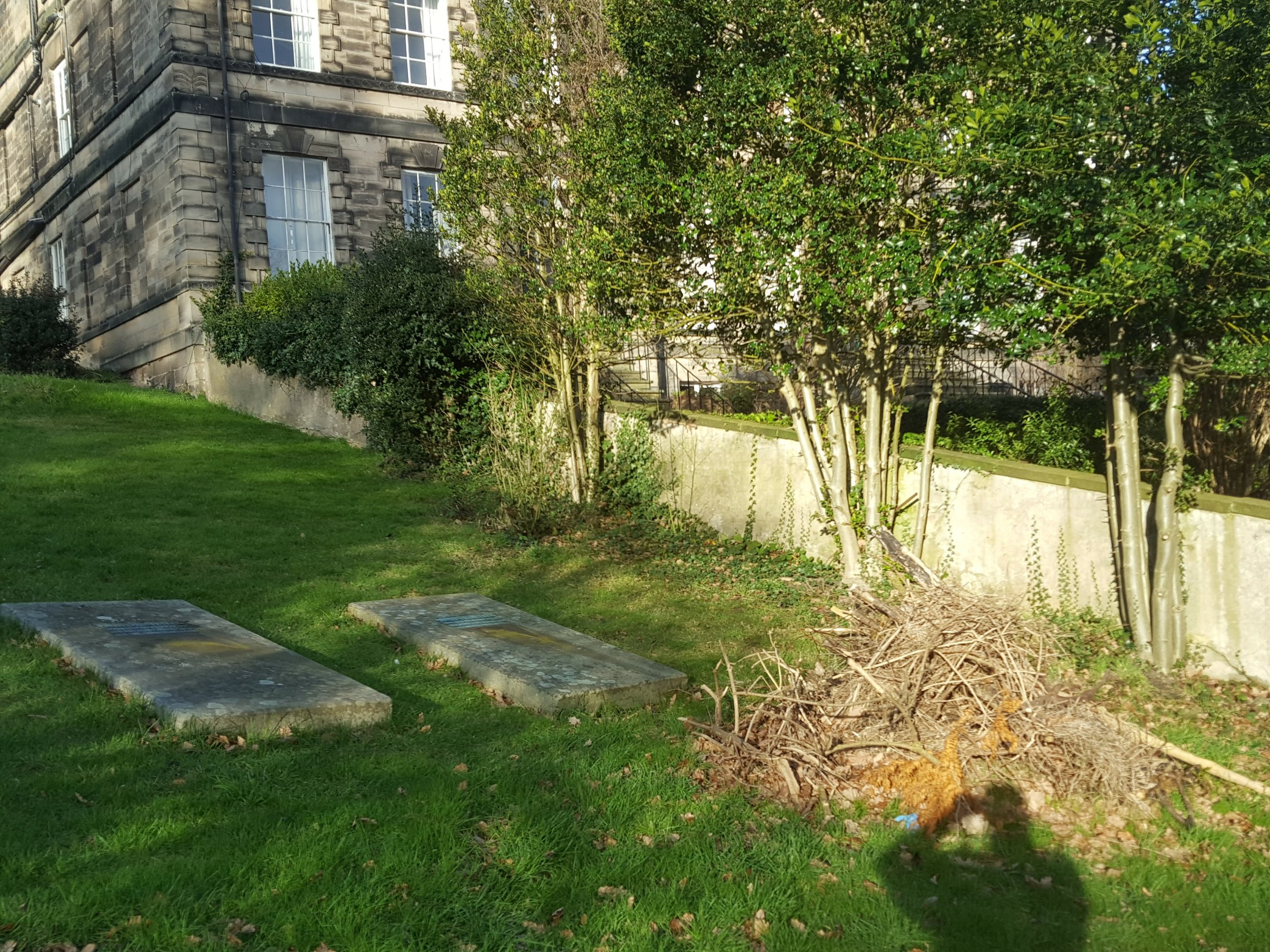 Graves swept and tidied