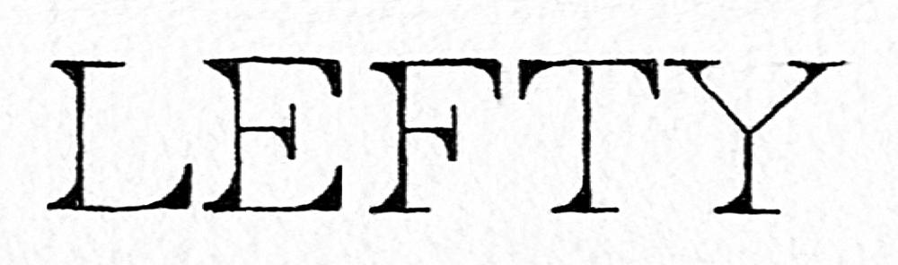 Lefty_type Black ink