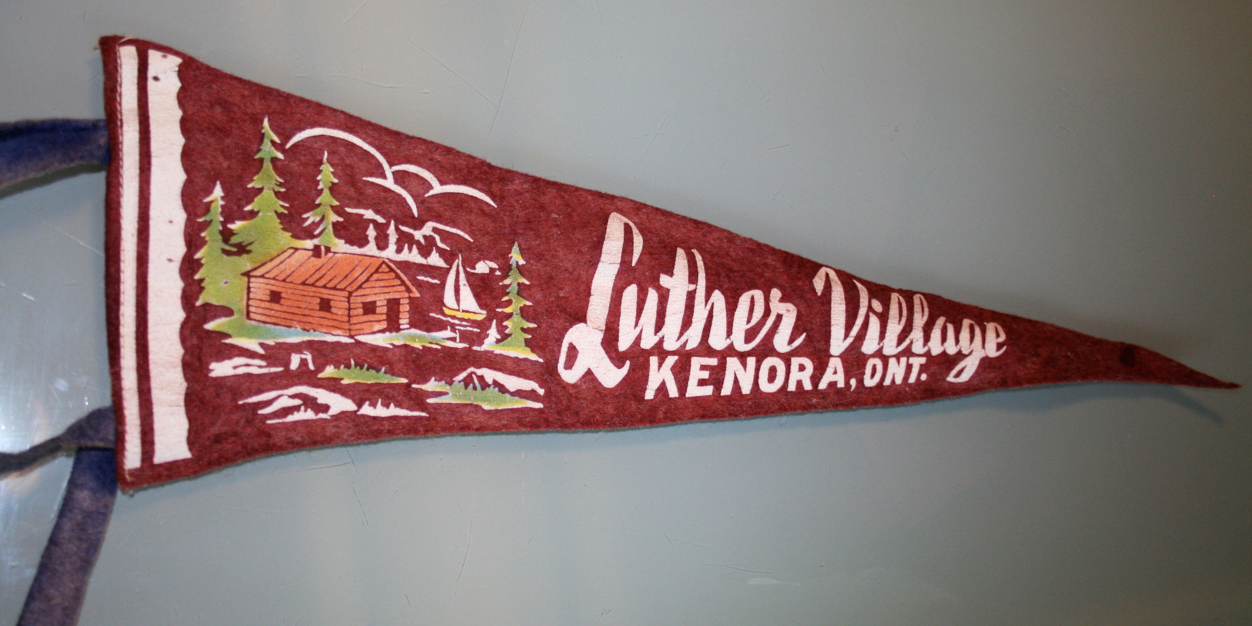 Luther Village original 1960s pennant