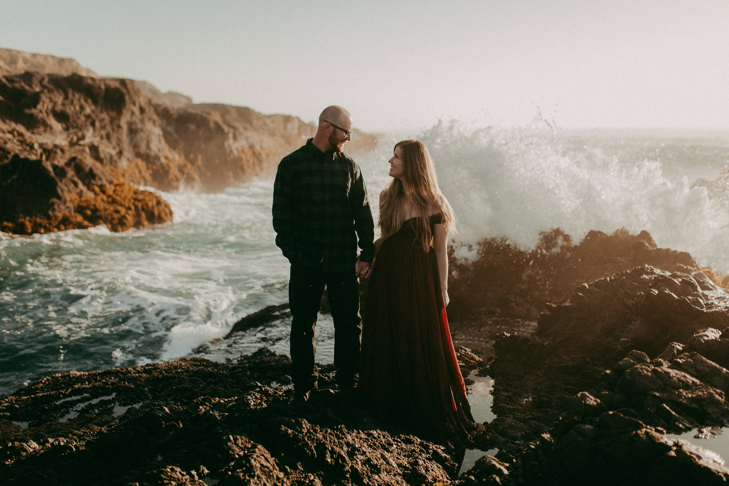 fort bragg engagement session