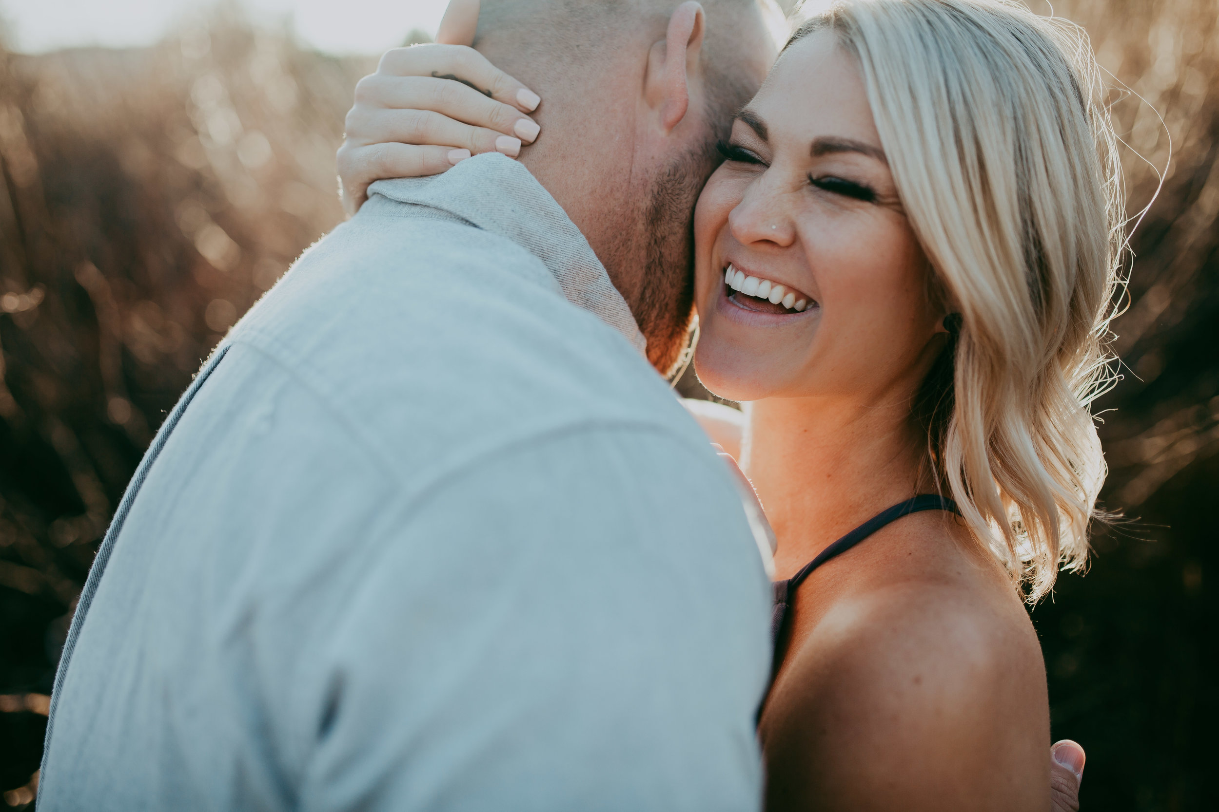 california fall engagement session