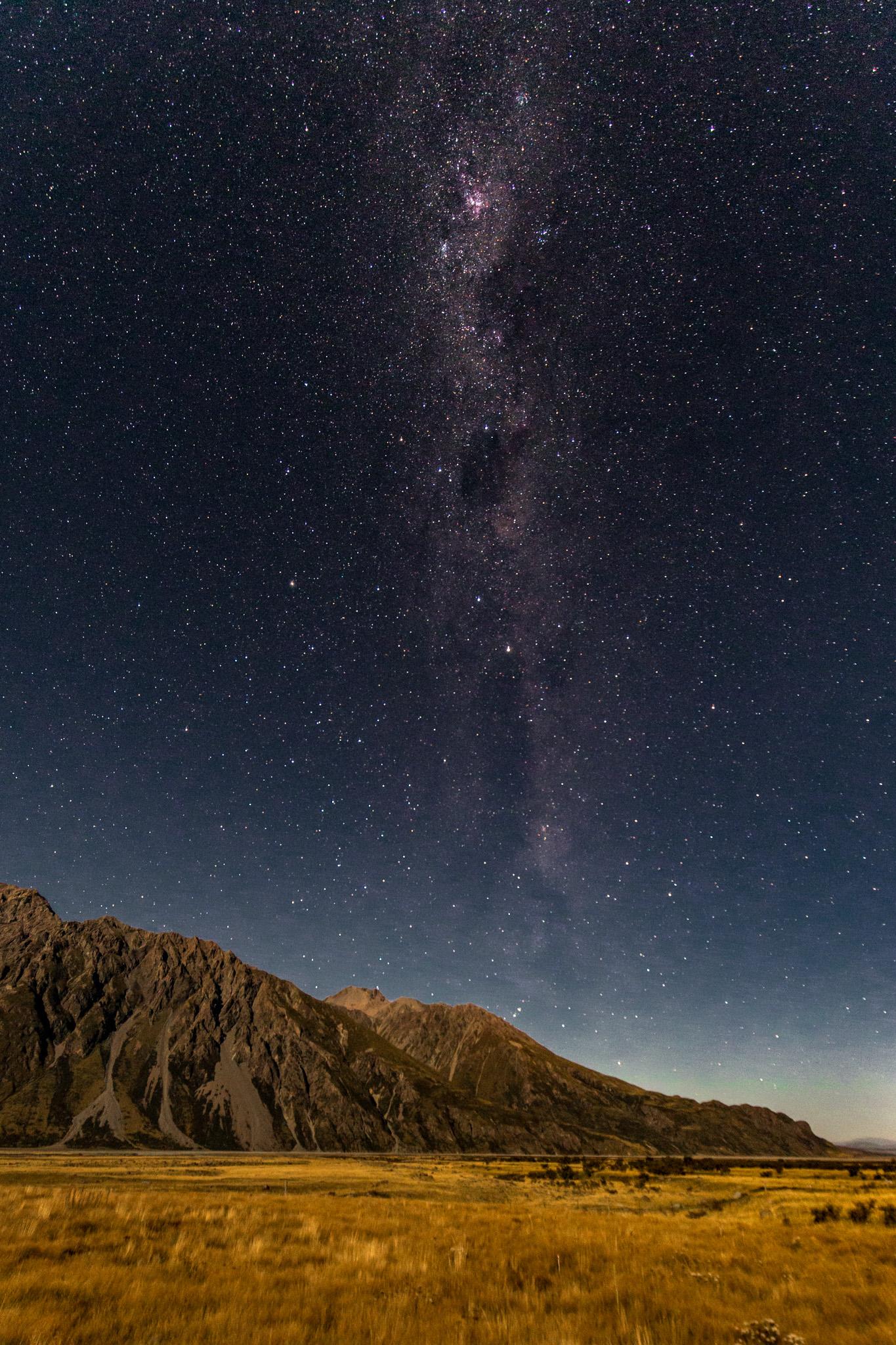 The Milky Way over the Tasman Valley /Aoraki/Mount Cook National Park