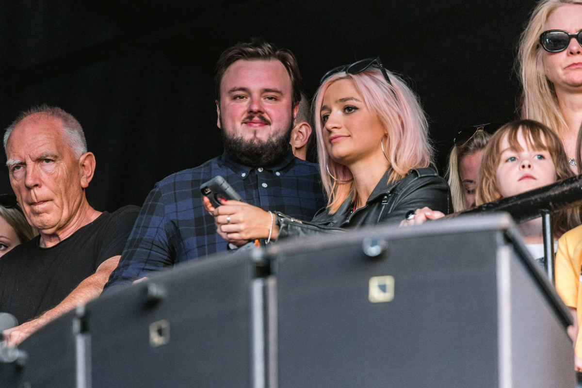John Bradley-West from Game of Thrones watches Liam Gallagher