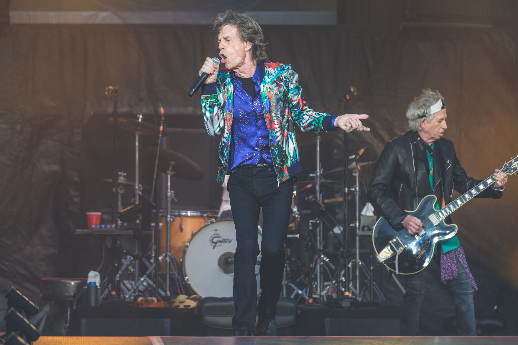 The Rolling Stones perform live on stage at Twickenham Stadium on June 19, 2018 in London, England.