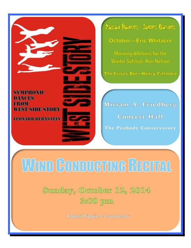 Concert Poster, October 12, 2014