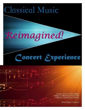 Front cover for concert program