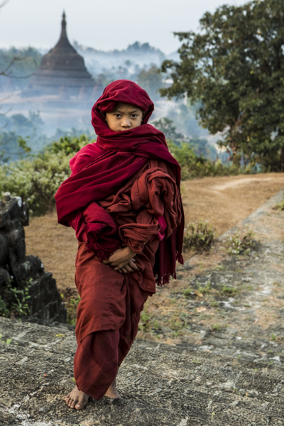 Young monk in Mrauk U