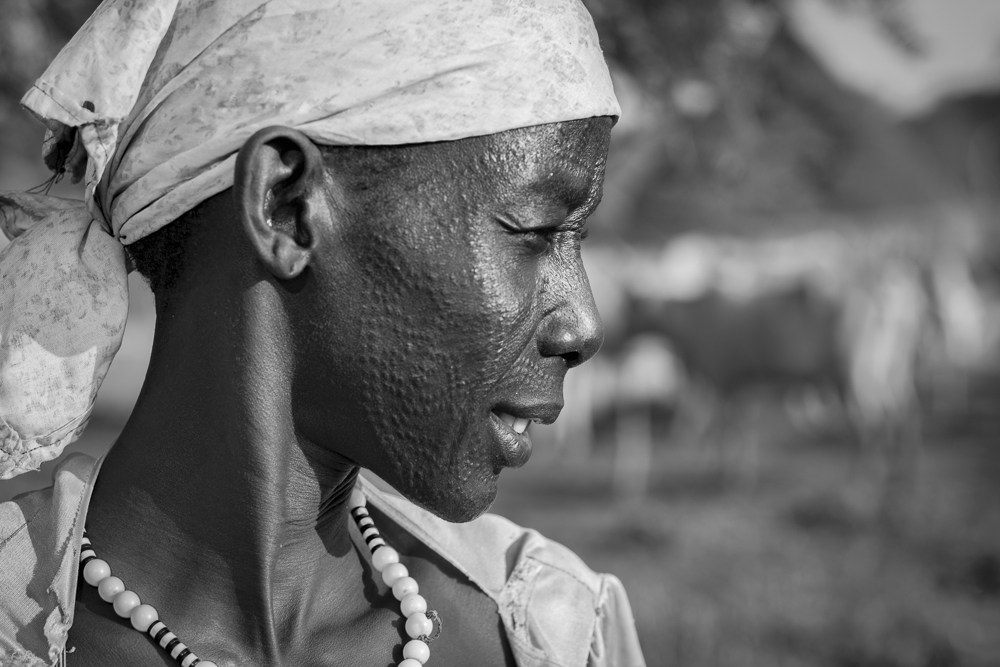 Nuer women with traditional facial scars
