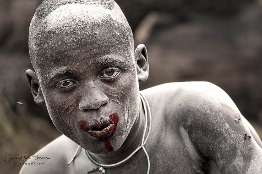 This warrior appears almost drunk after drinking a large amount of cow blood