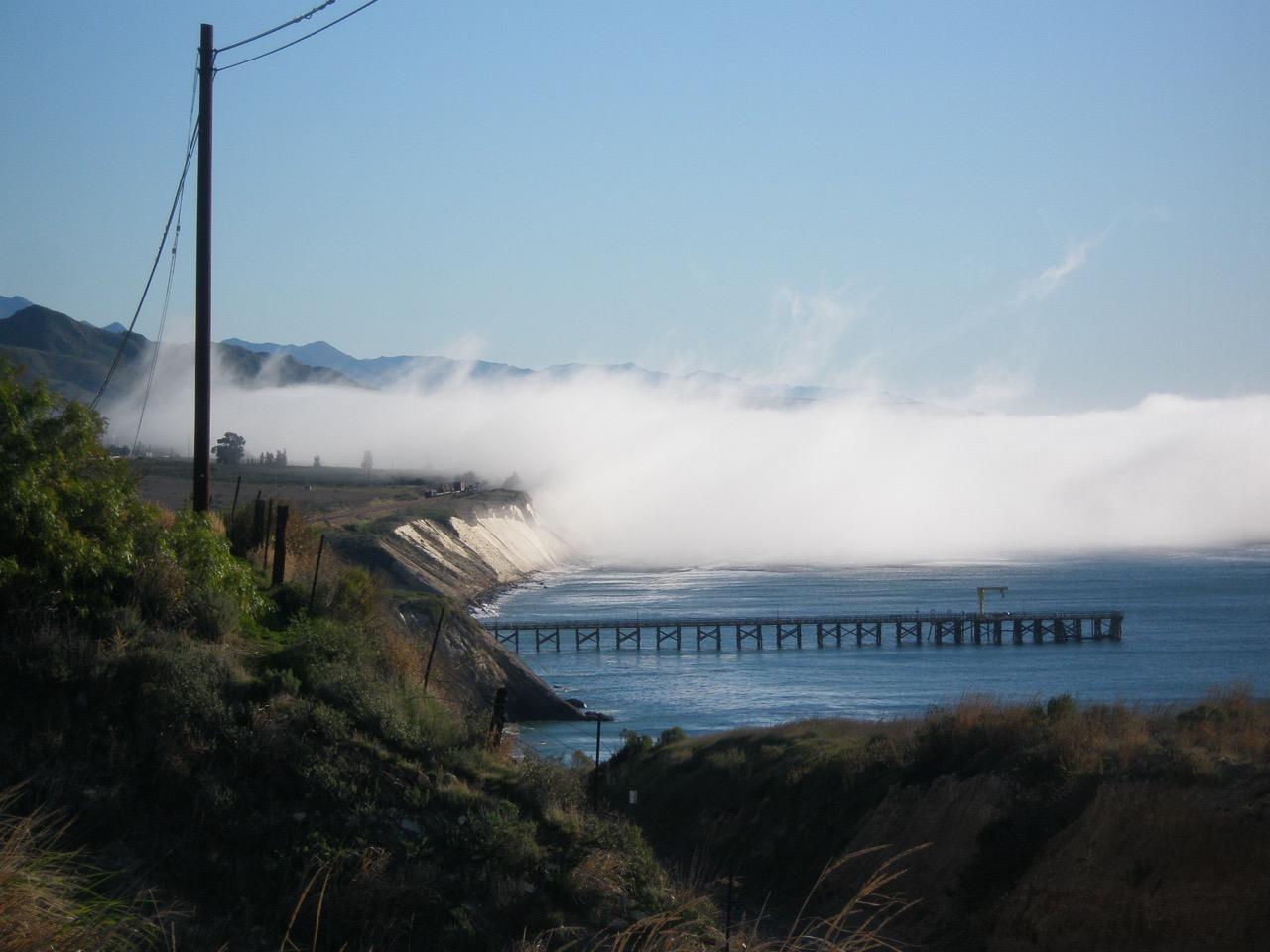Fog at Gaviota Pier