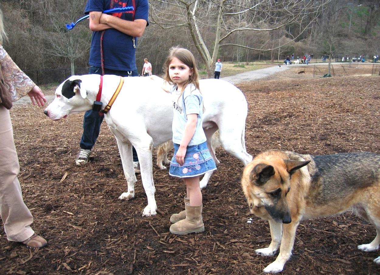Little Girl and Big Dog (Atlanta)