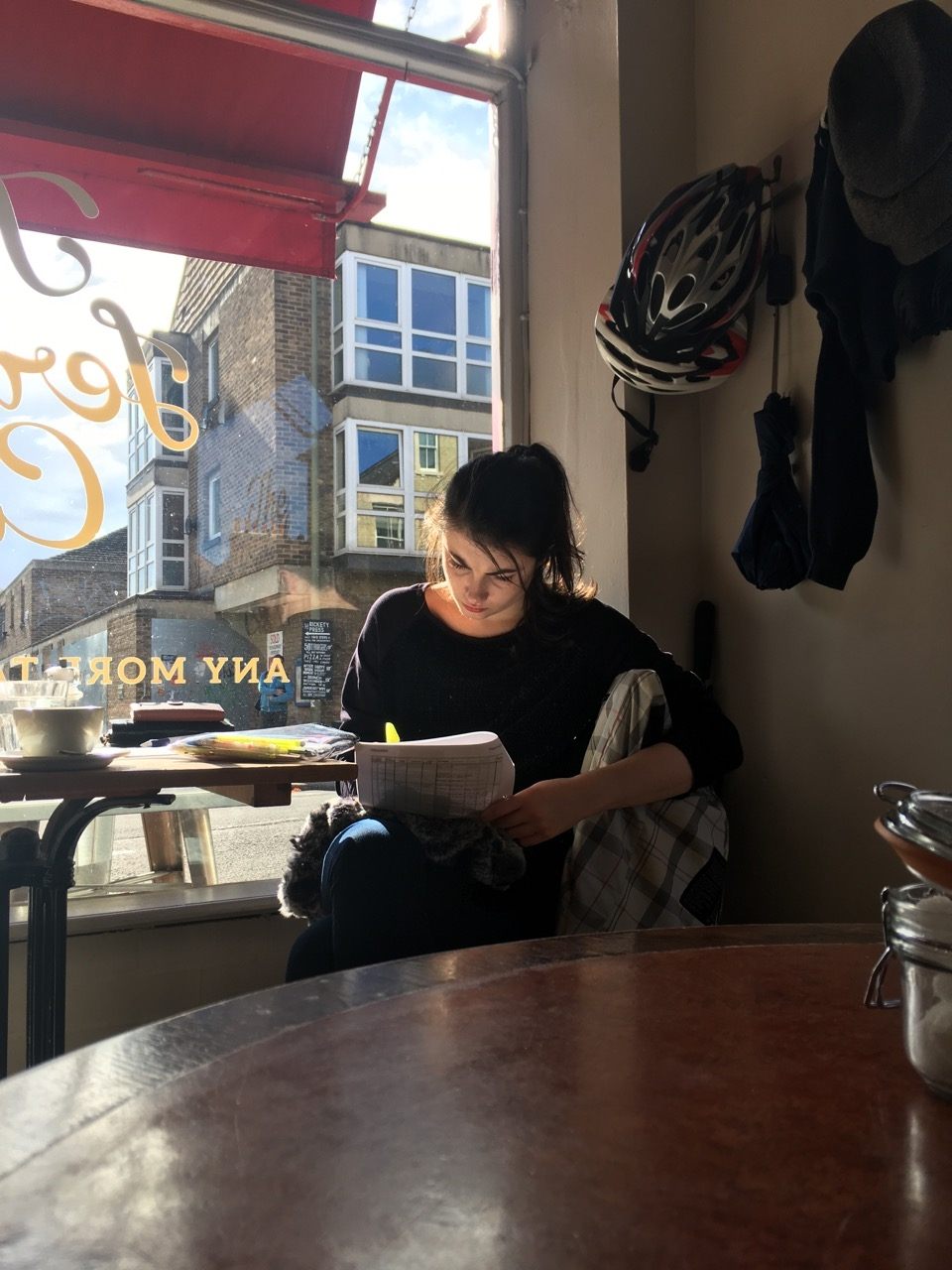 Girl in a café (Oxford)