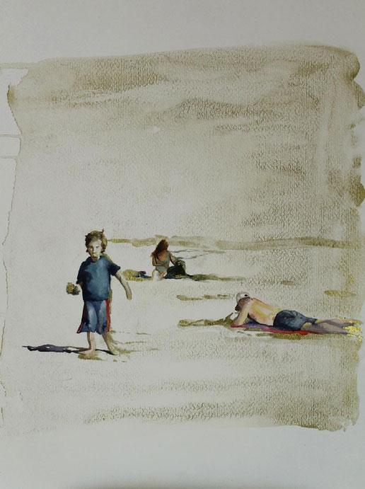 """""""Viento dorado"""" 30 x 40 cms - 2011"""