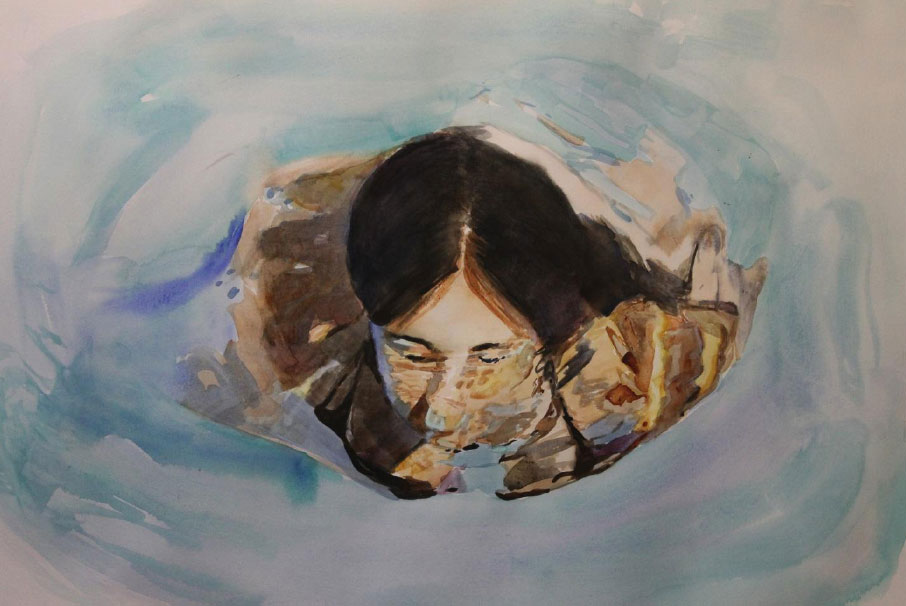 """Emergiendo"" 48 x 68 cms - 2011"