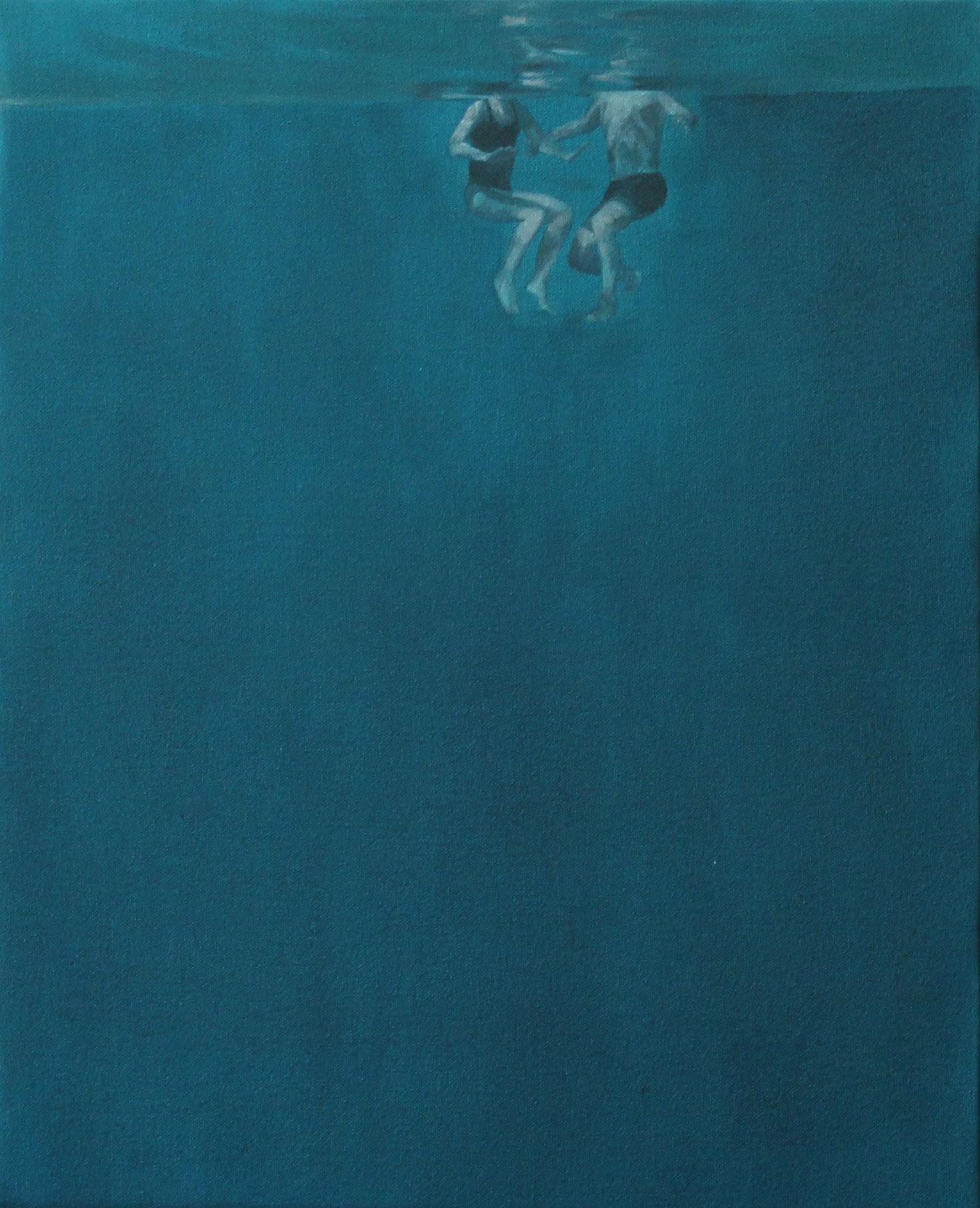 """Océano"". 50 x 40 cms. Óleo sobre tela."