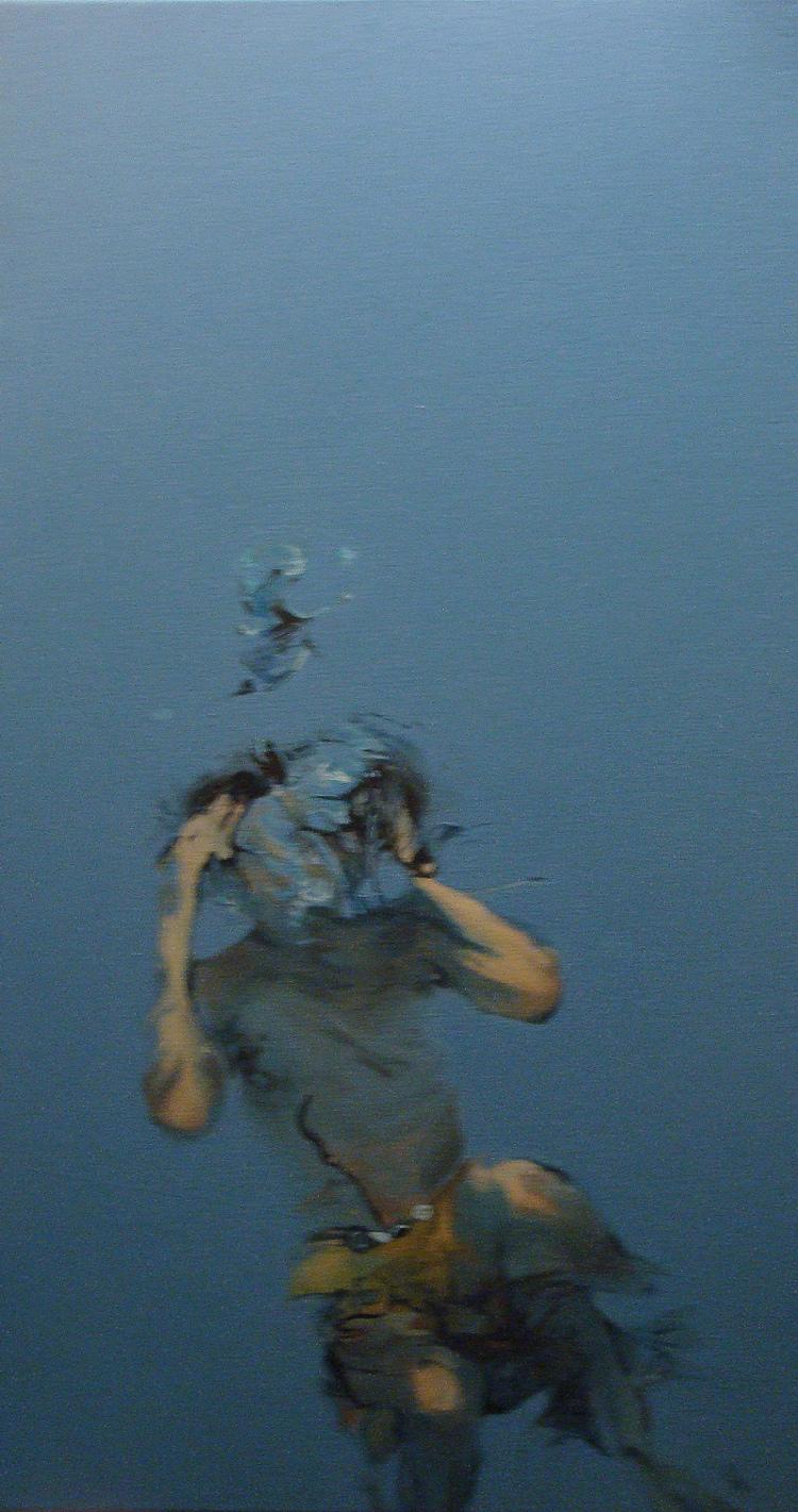 """""""De espaldas"""" 60 x 90 cms - 2008"""