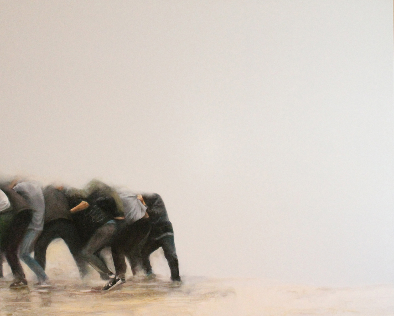 """Sostenidos"" 130 x 160 cms - 2013"