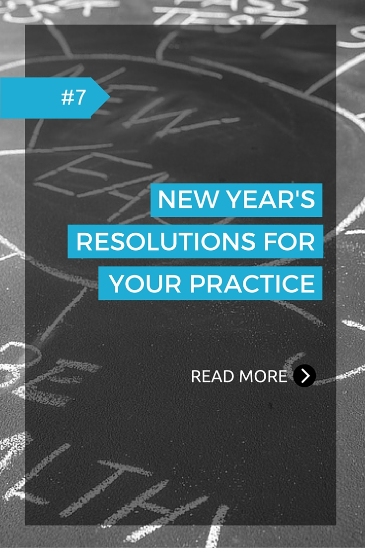 It's a new year, so now is a good time to think about some goals you would like to achieve not only for yourself, but also for your practice.