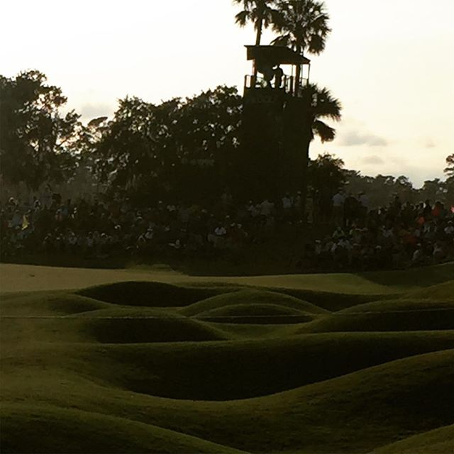 Parting shot of 18.  Left is water on the approach and right is this. #theplayers