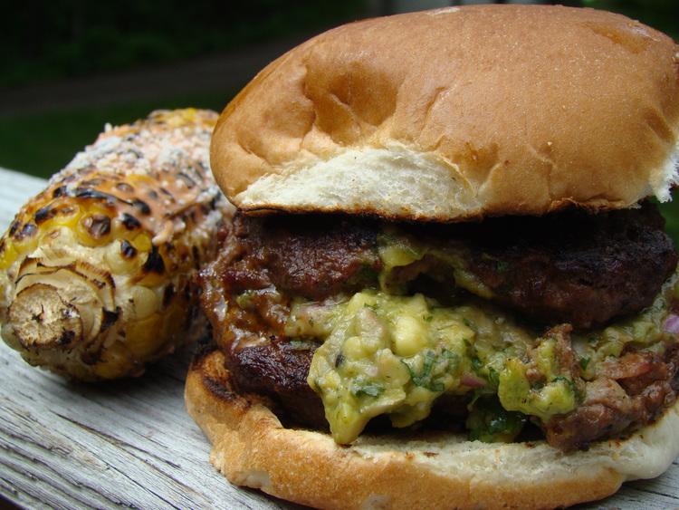 Guacamole Stuffed Burgers