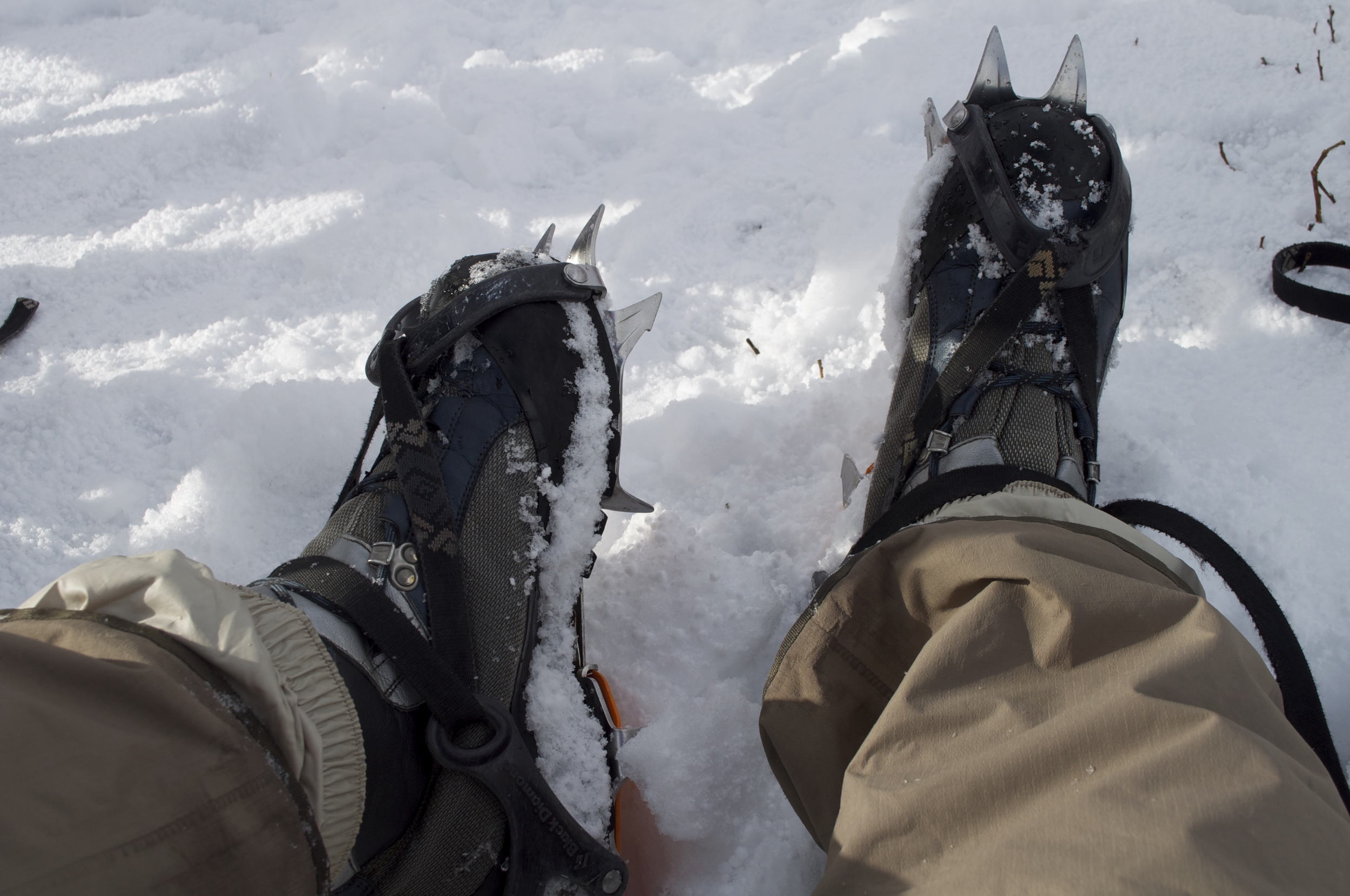 Crampon's on our hiking boots.