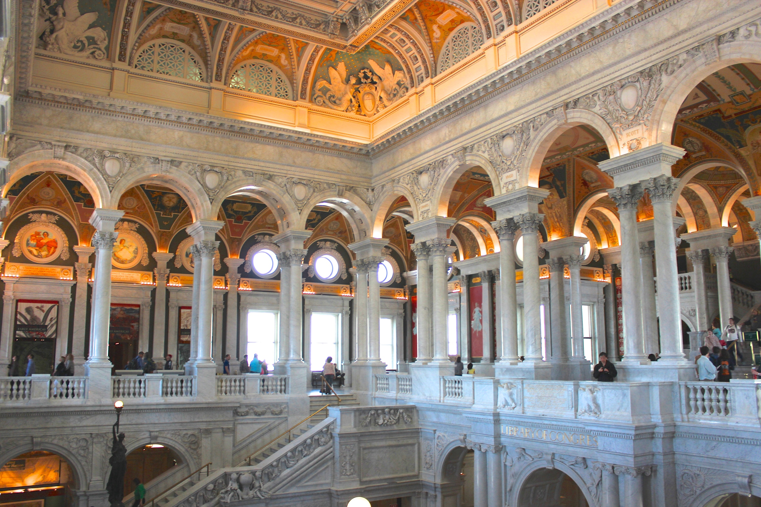 The breathtaking interior of the Library of Congress