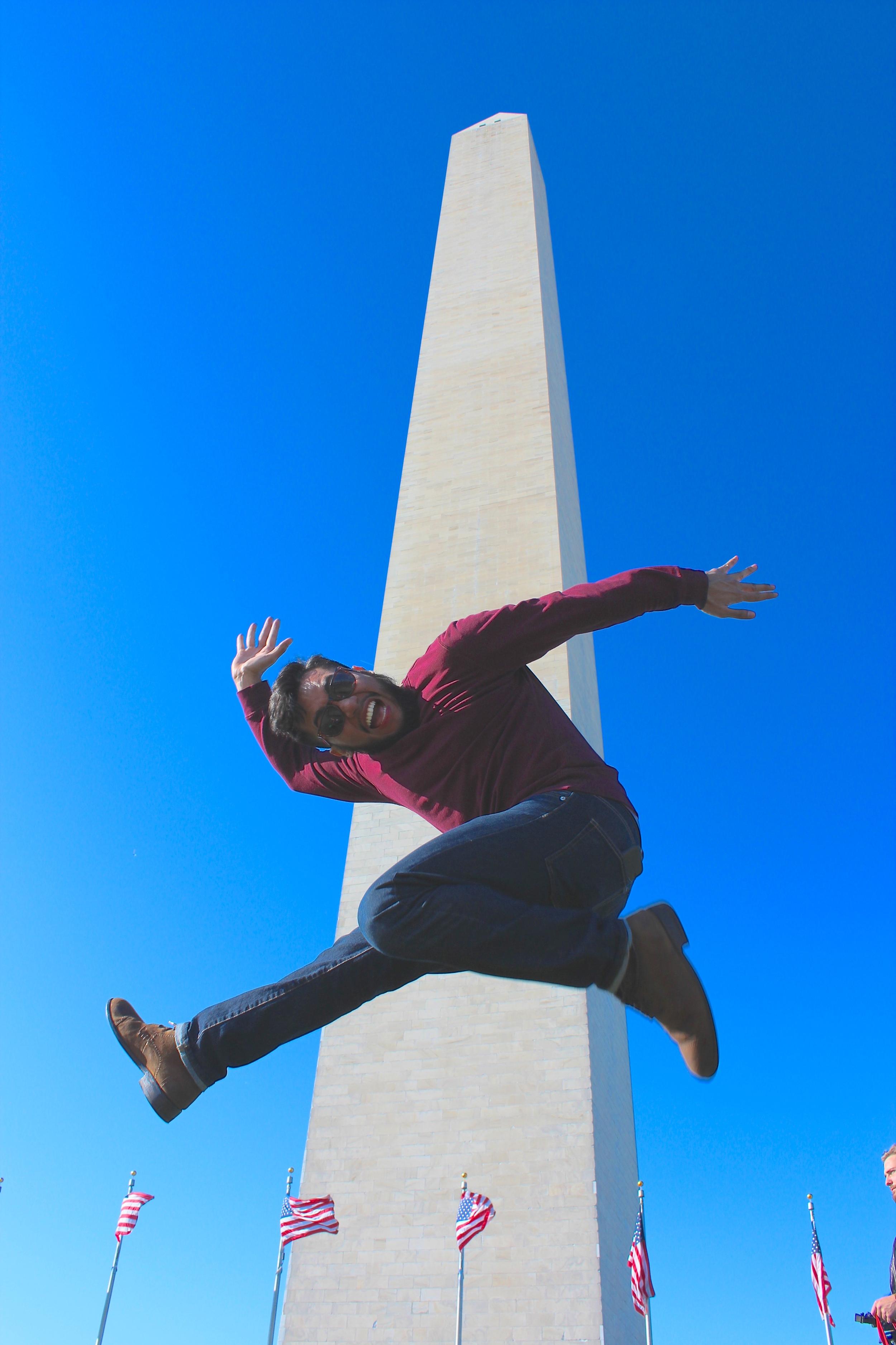 Luis & me at Washington Monument