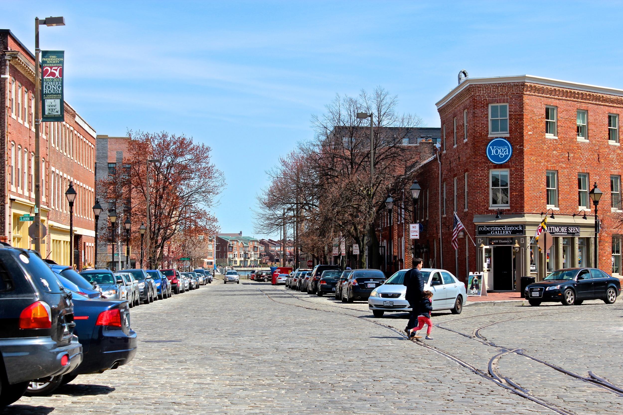 Cobblestone streets of Baltimore