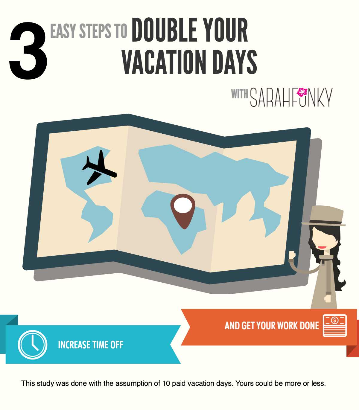 3 STEPS TO DOUBLE YOUR VACATION DAYS - INFOGRAPHIC