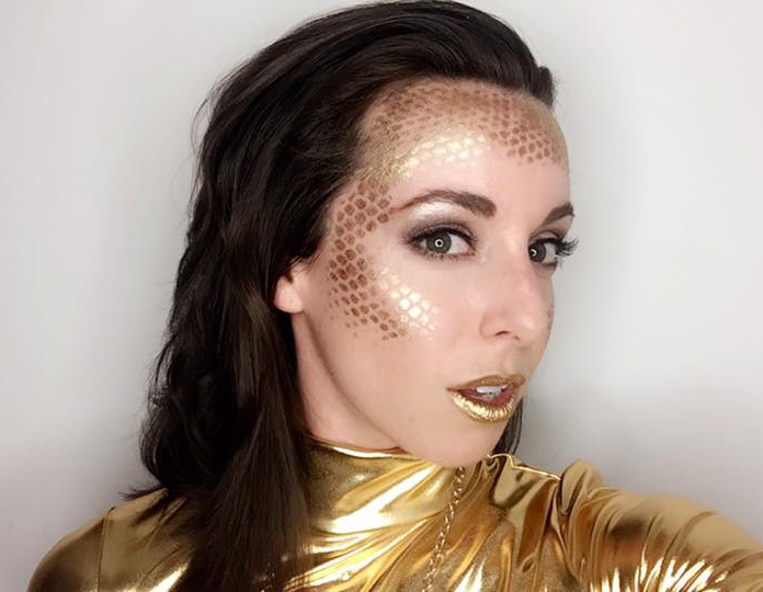 """My """"all gold"""" look."""