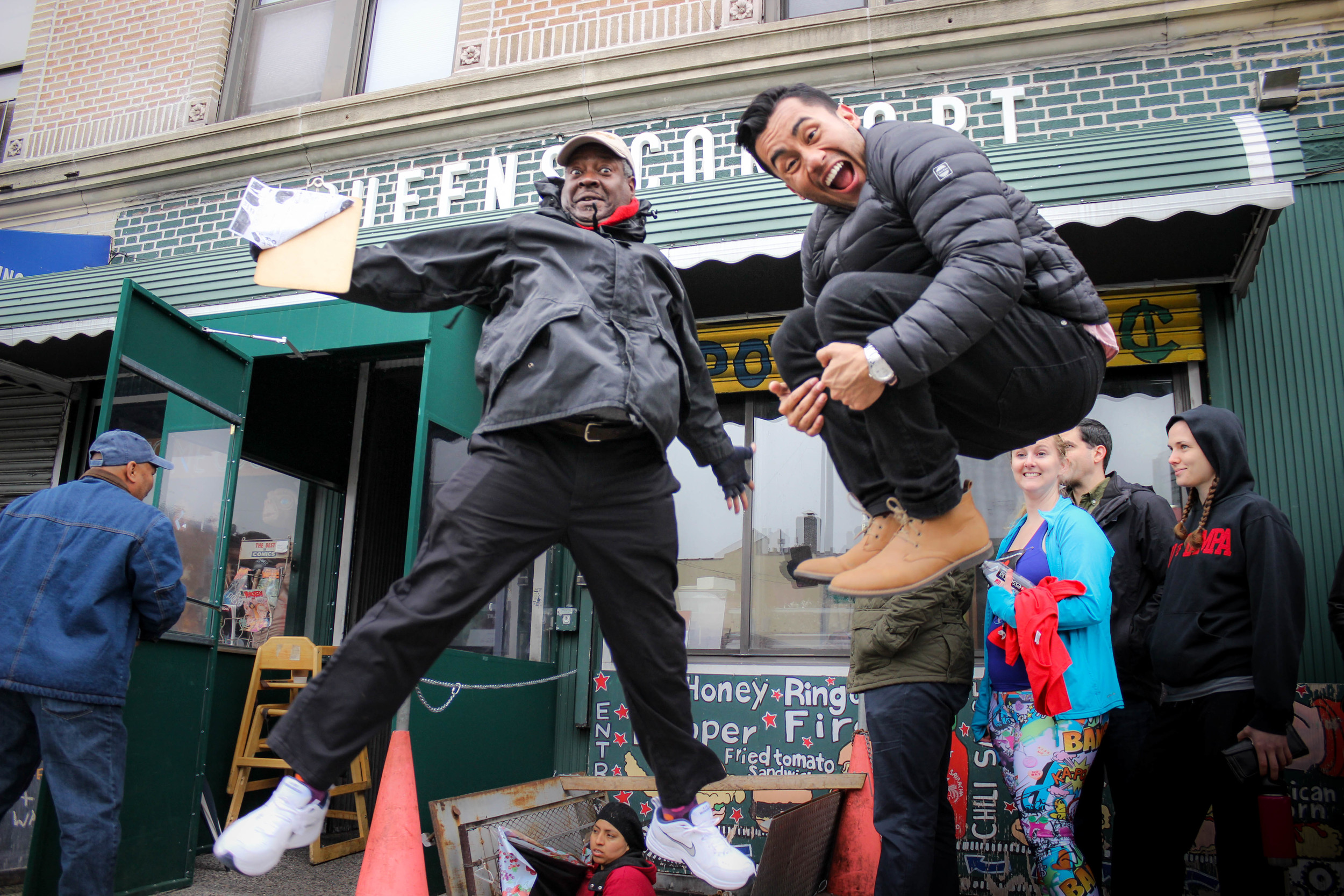 James Avatar & Luis having some fun while waiting!