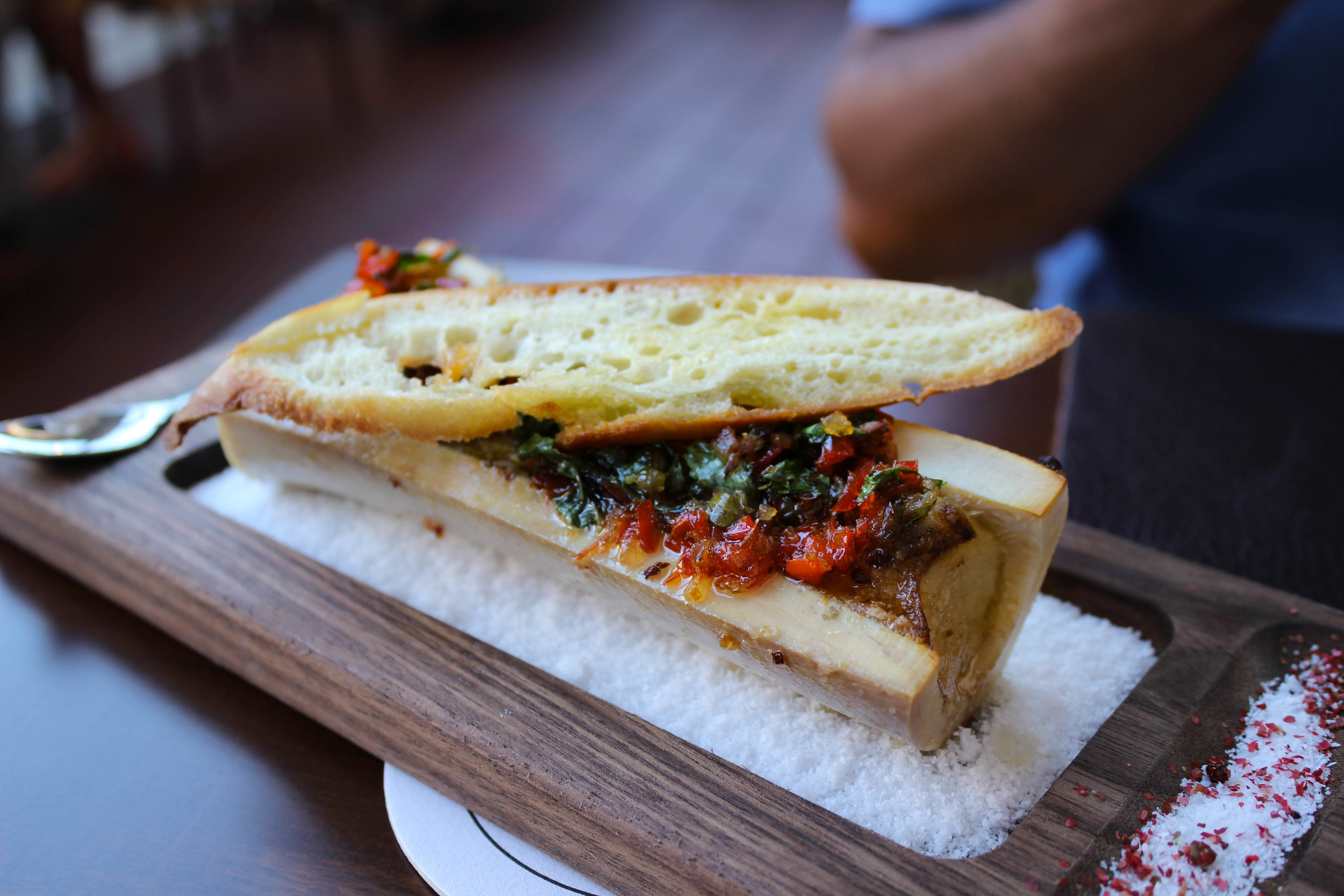 Bone Marrow - herbed aromatics, capers, peppadew