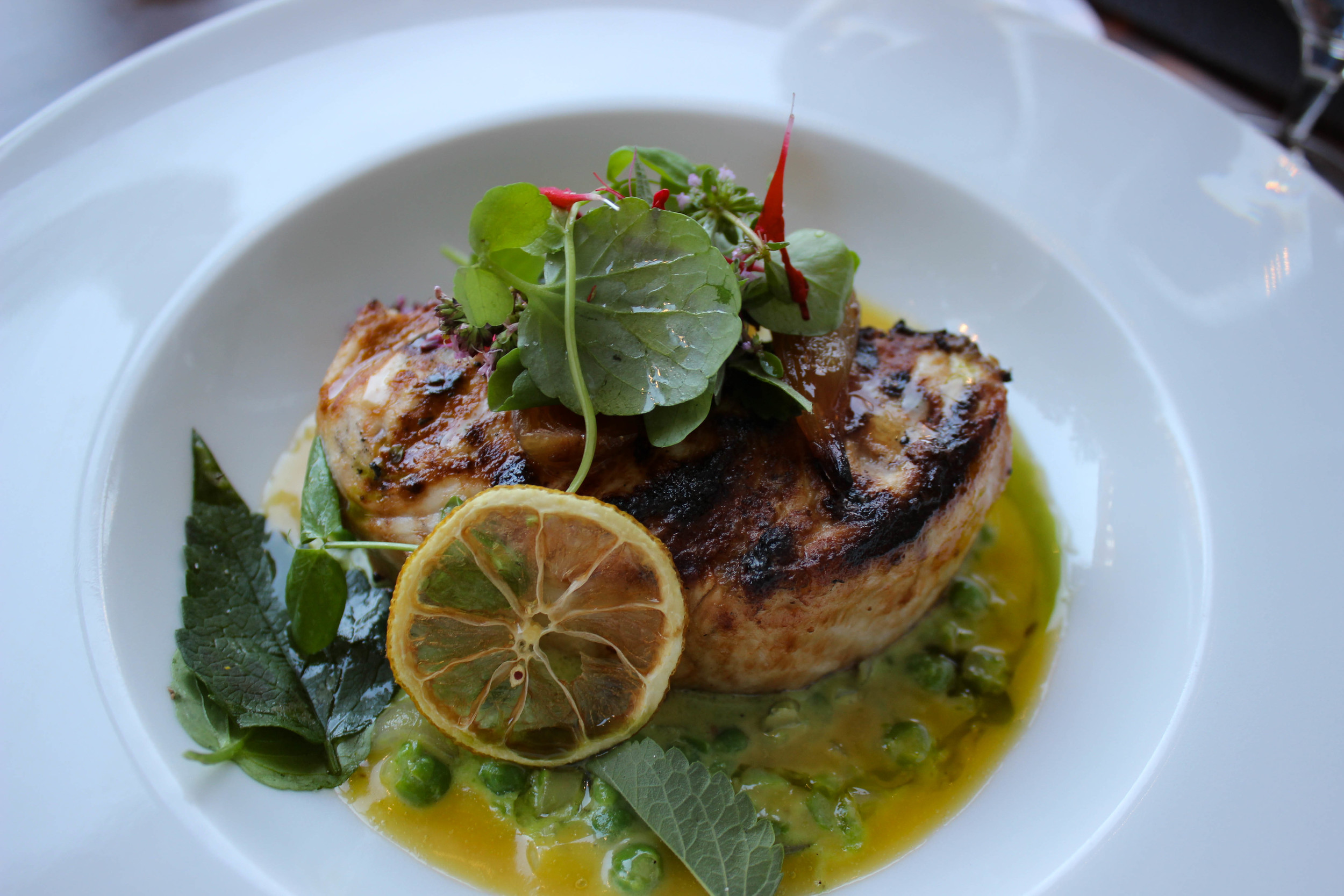 Simply Grilled Swordfish Steak - kalamansi juice, charred lemon