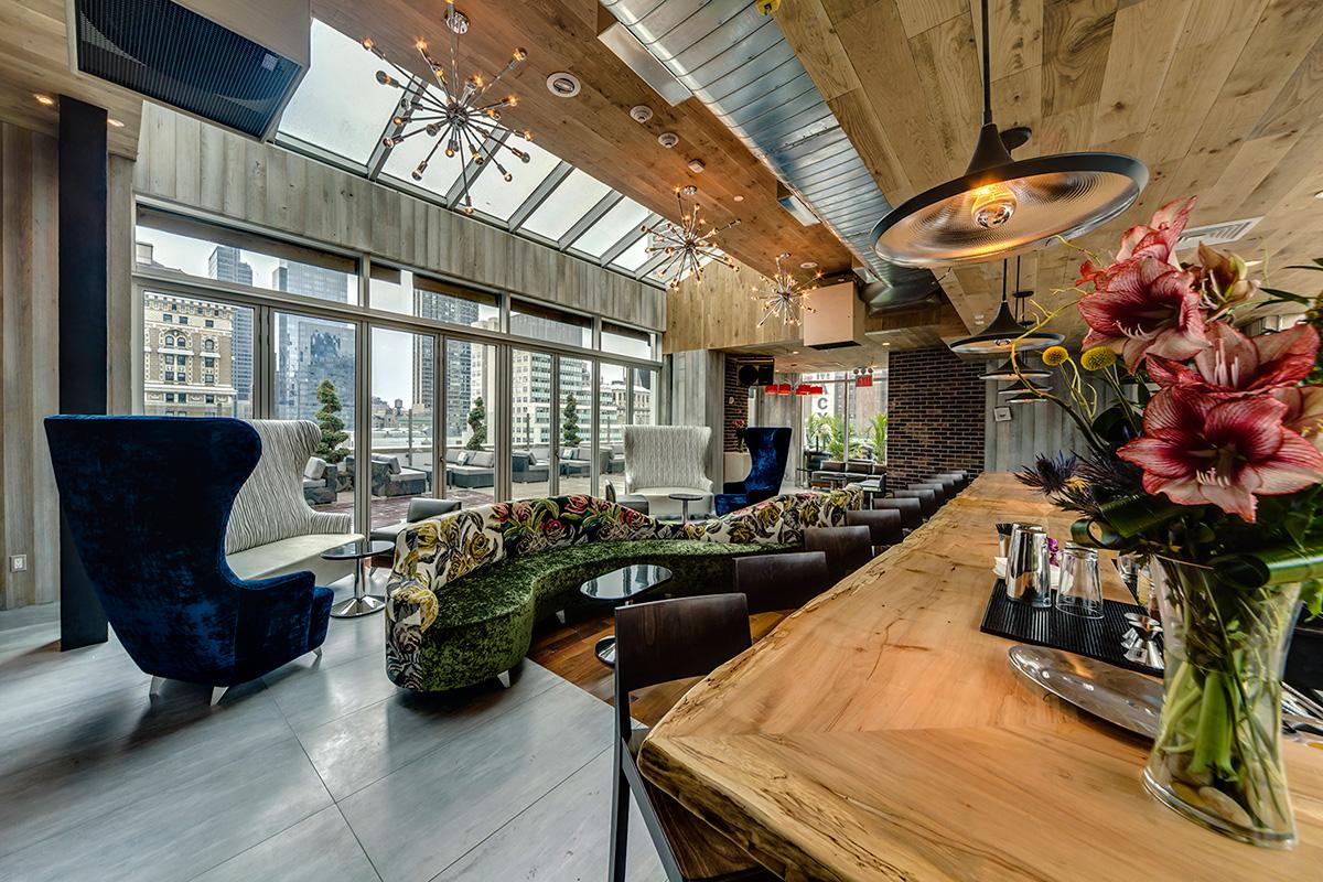 Interior of Monarch Lounge